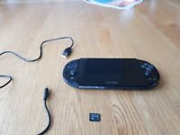 Ps vita console with 8GB memory card