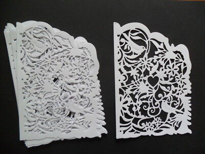 8 WHITE  DIE CUT  FRAMES / PANELS   FOR CRAFTS
