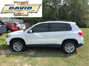 2016 Volkswagen Tiguan SE 4MOTION AWD, LEATHER, NAVIGATION, LOCA