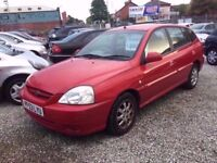 03 KIA RIO LX PETROL 1.4 PETROL IN RED *PX WELCOME* MOT TILL MARCH 2018 £395
