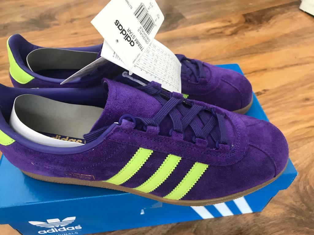 7d3c249785a adidas Originals Trimm Star, Purple / Yellow Size 9 brand new | in ...