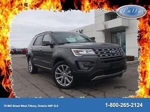 2017 Ford Explorer Limited, Executive Demo, AWD, 2733 kms, 0% fi