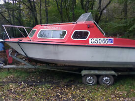 Microplus 561 & Double Wheel Base Trailer with 25hp Evinrude Outboard
