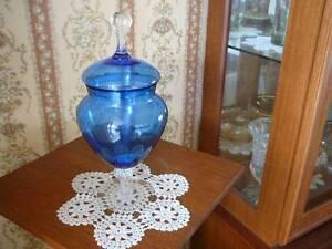 Vintage apothecary Jar Cobalt blue glass Mid century Seaton Charles Sturt Area Preview