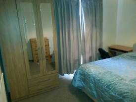 Double room in three bed terrace-all bills included. Fibre optic broadband.