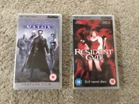 Sony PSP PlayStation Portable UMD Movies - The Matrix & Resident Evil