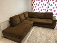Super clean SCS Velvet corner sofa & armchair