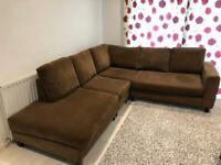 Super clean SCS Velvet corner sofa