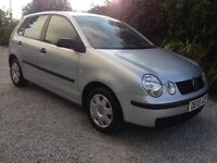 Polo 1.2. 5 Door. 2005 05 reg . Only 43000 Miles. New 12 months MOT. Same family owned since 2008