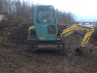 Operated Mini Digger Hire From £160 Per Day Weekly Discounts Available All Groundworks Undertaken