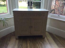 2 Door, Single Drawer Shabby Chic Side Board. Cabinet. Cupboard.