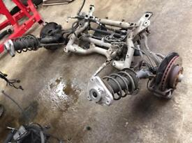 2012 mercedes w212 front axel complete