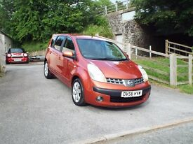 NISSAN NOTE HATCHBACK, MPV, 1.6 PETROL MANUAL. NEW MOT. FULL SERVICE HISTORY