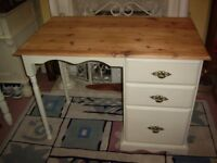 DRESSING TABLE SOLID PINE ANNIE SLOAN OLD OCHRE