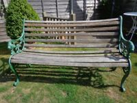 Garden Bench with lion head ends, length 141 cm . Can Deliver