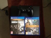 PS4 & Controller with 2 games