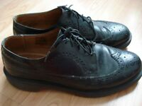 Mens Dr Martens Black Brogues