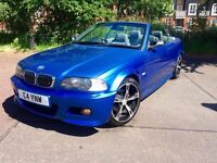 BMW 325CI M-SPORT INDIVIDUAL ESTORIL BLUE CONVERTIBLE MANUAL LOOKS AND DRIVES AMAZING PX WELCOME