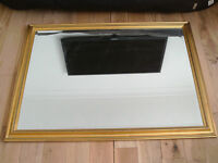 Large Wooden Framed Wall Mirror