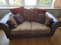 3 & 2 seater sofa, lamp, light and pictures