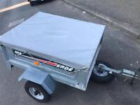 Erde tipping trailer + cover/spare wheel