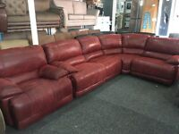 New/Ex Display Gouver Corner Group Recliner Sofa + Recliner Chair