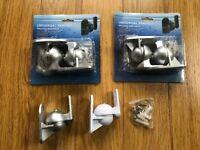 5 Silver Surround sound speaker wall brackets Universal