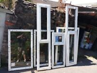 here we have a job lot of 12 upvc windows in white, brand new with cills if required various sizes