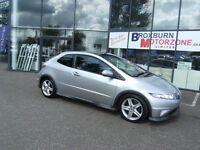 2007 07 HONDA CIVIC 1.8 I-VTEC TYPE-S GT 3d 139 BHP MOT APRIL 2017 **** GUARANTEED FINANCE ****