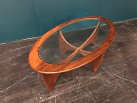 Astro Oval Coffee Table by VB Wilkins for GPlan. Retro Vintage Mid Century