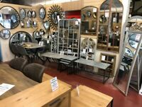 New industrial & window style round mirrors available today £19-£299