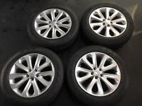 BRAND NEW SET OF GENUINE 2017 RANGE ROVER ALLOYS AND TYRES