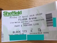 ** Fast & Furious ** £120 all 4 fri 27th April exc seats Sheffield arena