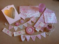 Girls Bedroom items: NEXT/WHITE COMPANY/LAURA ASHLEY. Rug, Fabric Bunting, Clock, Bin, Mirror, etc