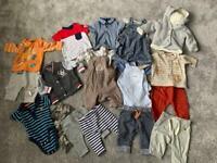 17 items - 0-3 months boys clothes bundle