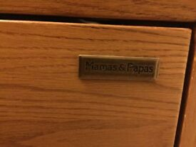 Mamas and papas ocean cotbed and changing unit with drawers