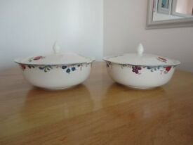 Poole Pottery Cranborne pattern serving dishes