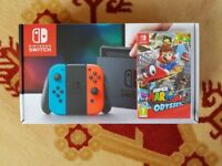Nintendo Switch with Super Mario Odyssey - Brand New & Boxed