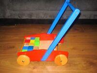 ***Wooden Baby Walker with Blocks Bundle***