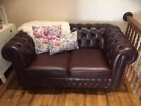 Chesterfield Sofa and Recliner Chair