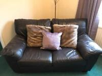 FREE! 2& 3 seater Brown leather sofas