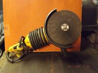 De-Walt 110 volt 9 inch angle grinder,used but in good working order.