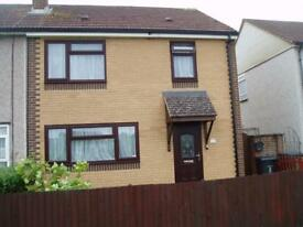 3 bedroomed end terrace house for sale.