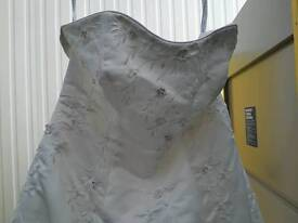 Beautiful wedding dress with added sparkles