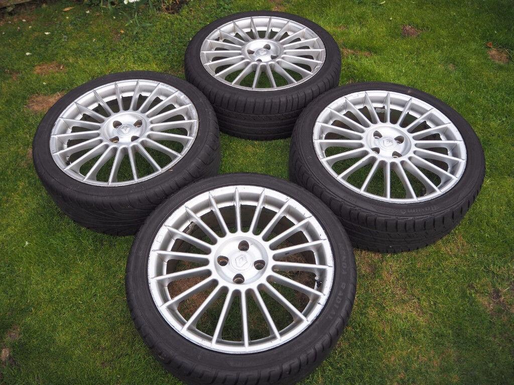"""Alloy wheels 18"""" inch x 7j 4x100 Volvo 340 440 460 480 Citroen C1 Kia Picanto rio alloys wheel"""