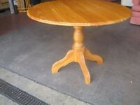 3' 6 Top Solid Pine Circular Kitchen Dining Table