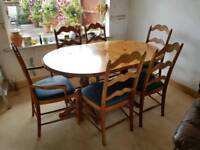 Solid Wood 6 Seater Extending Dining Table