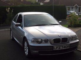 2004 BMW 316Ti ES COMPACT - 3 door Hatchback 1796cc. Full Year's MOT