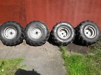 Apache 100 quad wheels and tyres for sale  Newcastle, Tyne and Wear