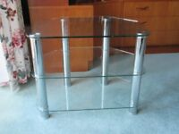 Clear View 3 Glass TV Stand - Up to 42 inch LCD TVs